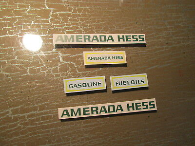 Waterslide Decal Set For 1969 Amerada Hess Tanker Truck