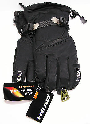 Head Youth Snow Glove Medium M 7-10 Comformax Classic Black SKI Multi-Layer New