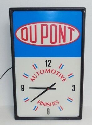 Vintage DuPont Auto Finishes Wall Clock Sign Advertising Staven Industries