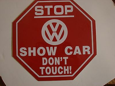 Vw Volkswagen Metal Show Car Don't Touch Logo Sign Bus Bug Type2 Vanbeetle Type3