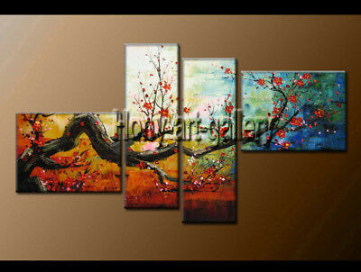 Large Oil Painting Flower Modern On Canvas Contemporary Wall Art Decor FY3681