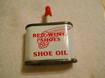 Vintage Red Wing Shoe Oil Can , Never Opened