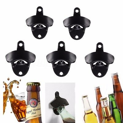5x Vitage Wall Mounted Bar Wine Beer Soda Glass Cap Bottle Top Opener Open Tool