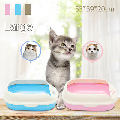 Pet Cat Litter Kitty Cleaning Box Training Toilet Scoop Cave Bed House Tray Box