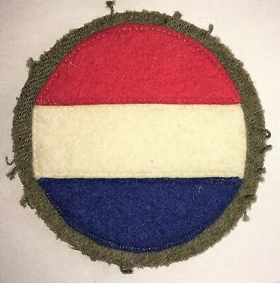 Original WWII US Army  Replacement School Command Wool Felt Shoulder Patch