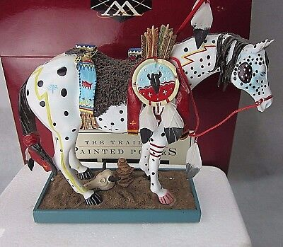 """War Pony"" Trail of Painted Ponies #1452 Figurine in Box 16E/1668"