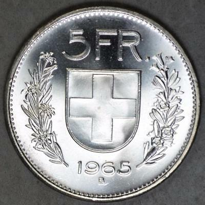 Switzerland 1965 5 Francs Silver Coin