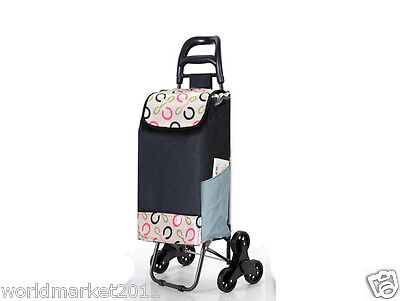 New Convenient Pattern Six-Tire Collapsible Shopping Luggage Trolleys