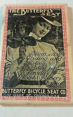 Vintage, Butterfly Bicycle Seat Co Pocket Mirror!