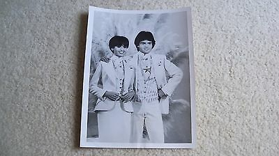 Donny and Marie Show Osmond photo 1977 ABC TV stamped on back press release