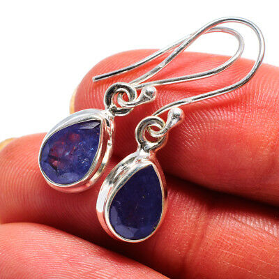 "Tanzanite 925 Sterling Silver Earrings 1 1/4"" Ana Co Jewelry E358715F"