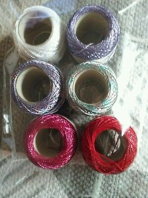 6 balls Metallic Twilley's Goldfingering Crochet yarn