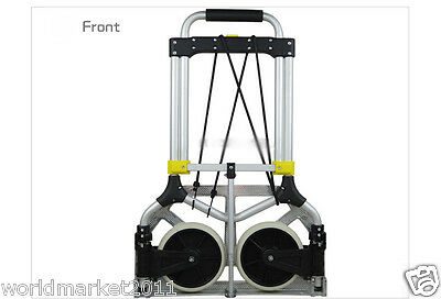 New Convenient Durable Two Wheels Collapsible Shopping Luggage Trolleys