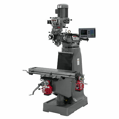 Jet 690157 JTM-2 Mill, 3-Axis ACU-RITE 200S DRO (Quill), X and Y-Axis Powerfeed