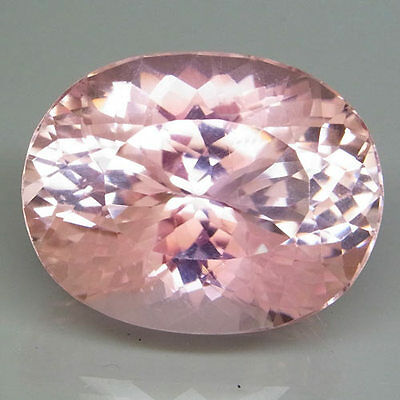 70.97ct.FLASHING GEM! 100%NATURAL HOT PADPARADSHA COLOR KUNZITE 27X21MM.AAA