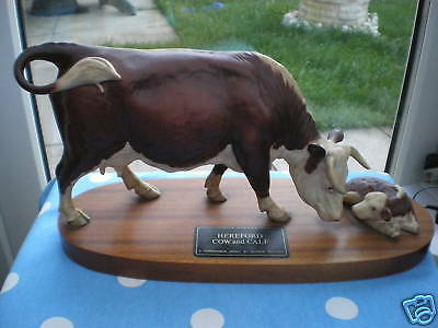 Beswick - Hereford Cow & Calf - Model No.2667 & 2669