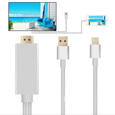 8Pin To HDMI HDTV AV Adapter Cable For iPhone 5/5S/6/6S Plus iPad 4 Air Mini 2 3