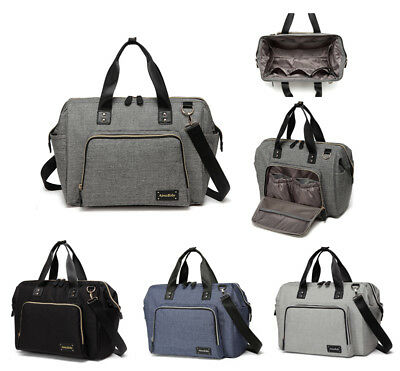 Large Multi-function Unisex Messenger Bag Baby Nappy Changing Bag+Changing Pad