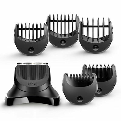 Braun Series 3 Shave and Style Trimmer Head + 5 Comb Set BRABT32 New Uk