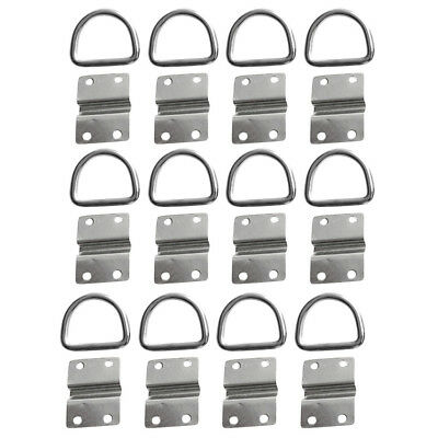 12x Lashing Ring Staple Cleat Tie Down Trailer Boat Rope Anchor Accessories