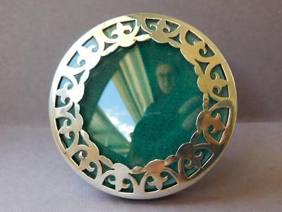 English Sterling Silver Dainty Arts & Crafts Era Round Picture Photo Frame