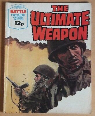 "BATTLE PICTURE LIBRARY # 1129 ""The ultimate weapon"" VG War Comic, published 1977"