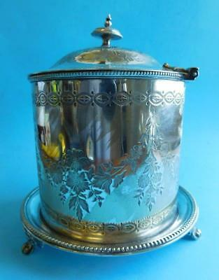 Quality English EP Silver Mappin Brothers Biscuit Barrel Aesthetic Movement 1890
