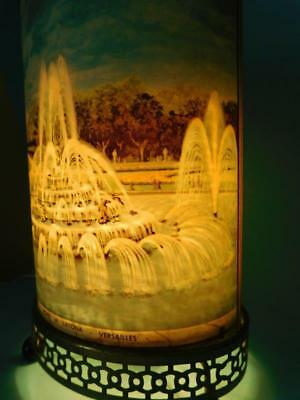 Rare 1960s ECONOLITE USA Table Motion Lamp Animated Waterfalls Versailles