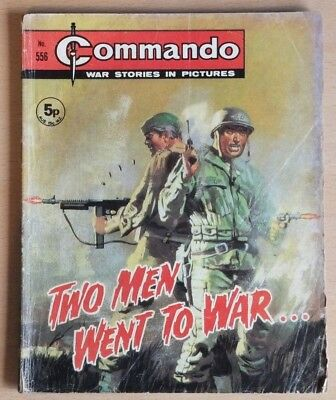 """COMMANDO # 556 """"Two men went to war"""" published 1971. War Stories Picture Library"""