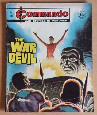 """COMMANDO # 642 """"The war devil"""" published 1972. War Stories Picture Library Comic"""