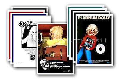 DOLLY PARTON - 10 promotional posters  collectable postcard set # 2