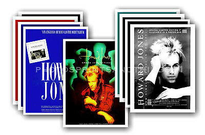 HOWARD JONES - 10 promotional posters  collectable postcard set # 1