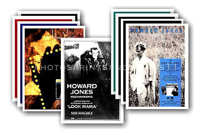 HOWARD JONES - 10 promotional posters  collectable postcard set # 2