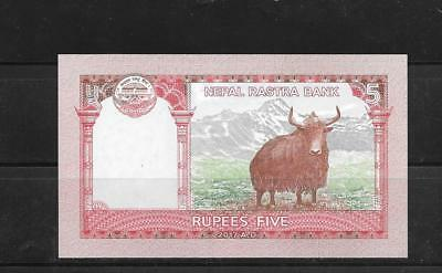 Nepal 2017 5 Rupees Unc Mint New Banknote Paper Money Currency Bill Note