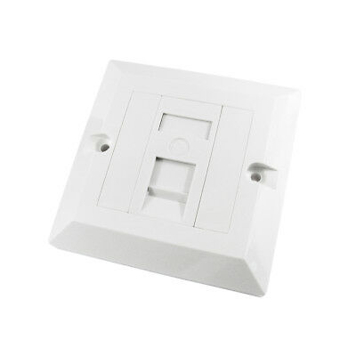 RJ45 Face Plate Wall Socket Cat5e Ethernet Single Gang 1 Port with Keystones