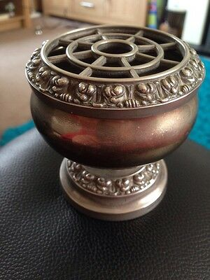 Vintage silver plated flower arranger by Ianthe