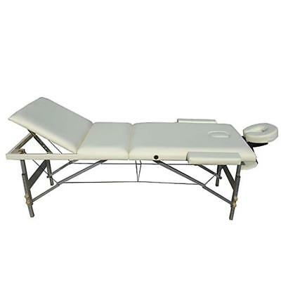ALUMINIUM 3 Zonen Massageliege Massagebank NUR 12,5 KG Mobile Beige