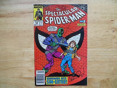 1988 Spectacular Spider-Man # 136 Sin-Eater Signed Jm Dematteis, With Poa