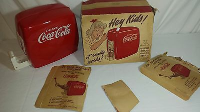 1950's COCA COLA  Toy Soda Fountain Dispenser  with original Box parts only