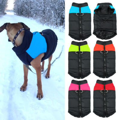 Winter Warm Dog Puppy Clothes Padded Waterproof Coat Pet Vest Jacket for Dogs