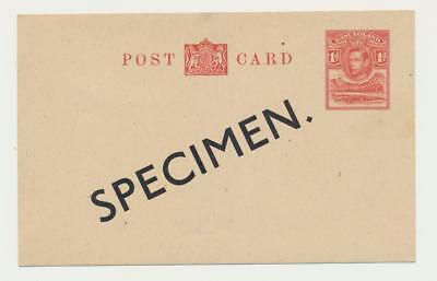 BASUTOLAND 1938, GV1 1d SPECIMEN CARD, UNUSED H&G 4 (SEE BELOW