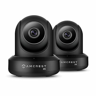 Amcrest 2-Pack IP3M-941B UltraHD 2K 3MP 90°WiFi Video Monitor Security Dual Band