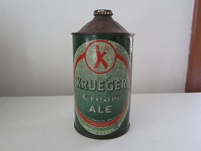 Vintage Krueger Cream Ale Quart Cone Top.