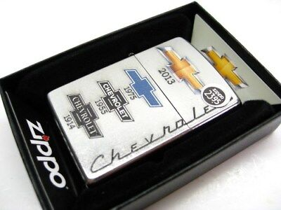 ZIPPO Street Chrome CHEVY CHEVROLET BOWTIE LOGO'S Windproof Lighter! 28846