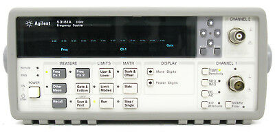 HP Agilent Keysight 53181A 3 GHz  2 Canali opt. 030 Frequency Counter very good