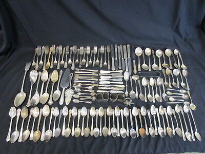 10.92 Lbs Vintage Silver Plated Flatware Lot (690)