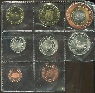 2010 Greenland Coin Set in plastic sheet