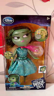 Disney Store Inside Out Disgust Deluxe Pixar Talking & Light Up Doll 24cm BNIB