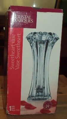 CRISTAL D'ARQUES Paris Sweetheart  Vase CDA Pbo 24 %  Genuine lead Crystal