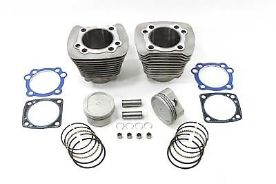 883cc to 1200cc Cylinder Piston Conversion Kit Silver For Harley Sportster 83-03